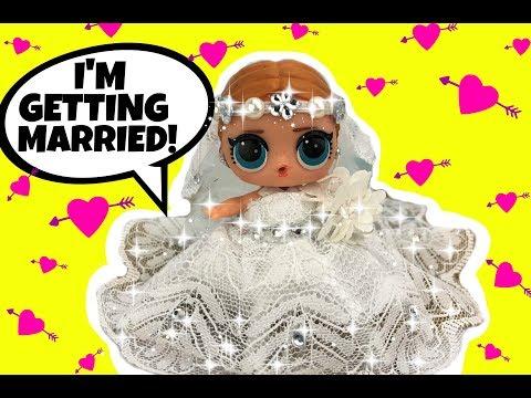 It's A Beautiful LOL Doll Beach Wedding!! LOL BRIDE CUSTOM Series 3 Special Guest ARIANA GRANDE