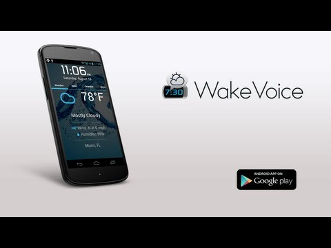 Video of WakeVoice - vocal alarm clock
