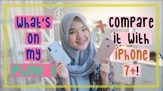 Video What's on My iPhone X + Comparison with iPhone 7+! (Indonesia) || Nada Syifaa MP3, 3GP, MP4, WEBM, AVI, FLV November 2017
