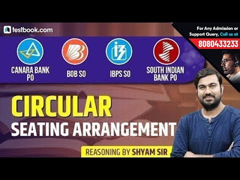 Canara Bank PO | IBPS SO | BoB SO | SIB PO | Circular Seating Arrangement | Shyam Sir