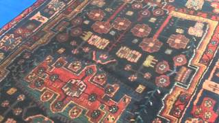 Scrub Cleaning Persian Rug