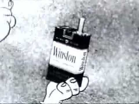 Vintage Commercial Flintstones selling Cigaretts
