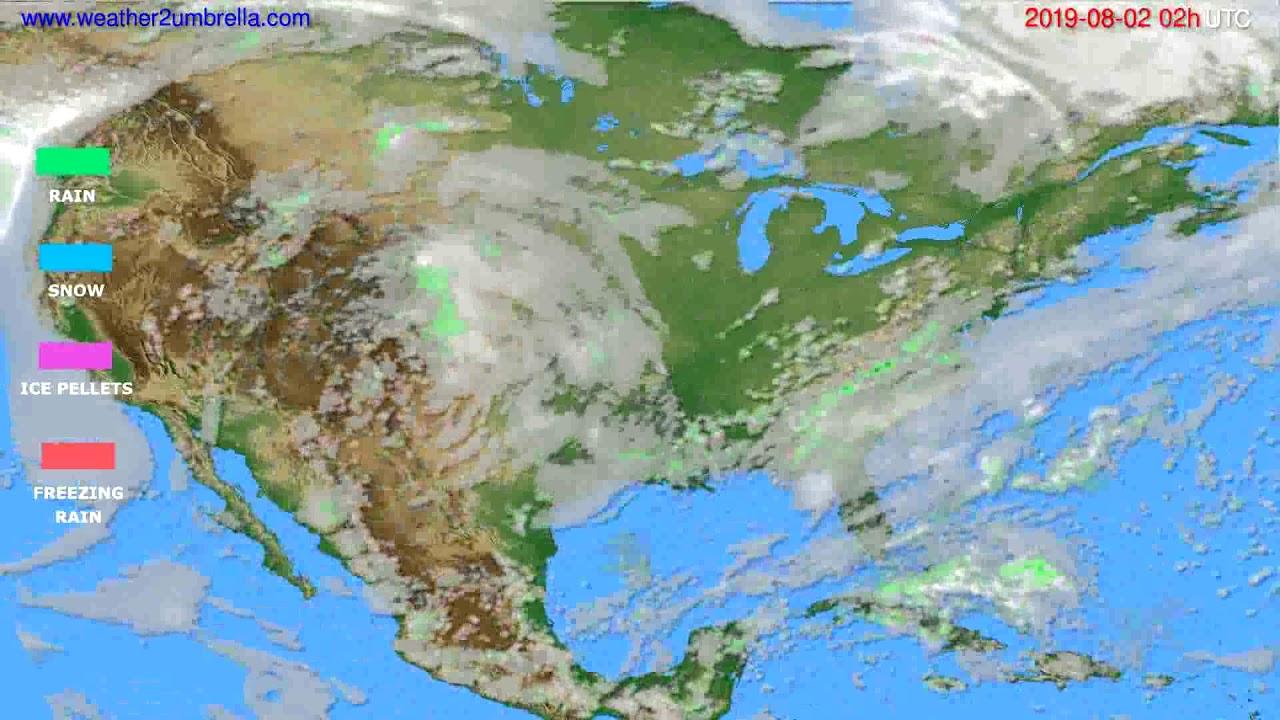 Precipitation forecast USA & Canada // modelrun: 12h UTC 2019-07-30