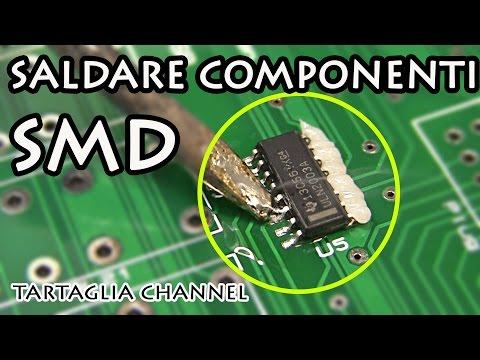 Saldiamo componenti SMD in modo professionale - flussante, stagno e saldatore -tartaglia channel