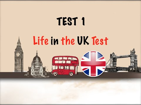 🇬🇧 Life in the UK Test 2017 - Citizenship Test Free Practice-TEST 1 📚