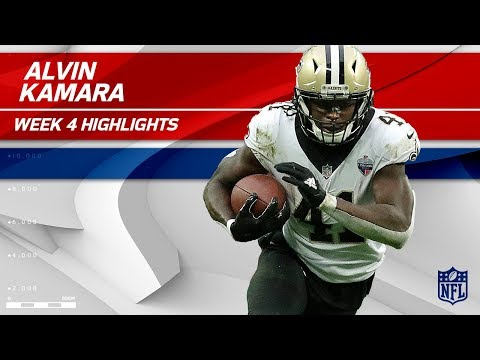 Video: Alvin Kamara's Huge Game w/ 10 Grabs! | Saints vs. Dolphins | Wk 4 Player Highlights