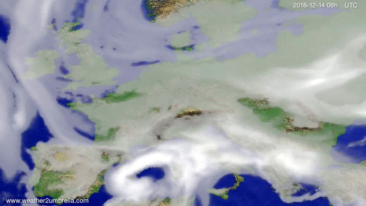 Cloud forecast Europe 2018-12-11