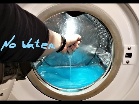Experiment - 10 liters of  Dish Soap  - in a Washing Machine - NO WATER