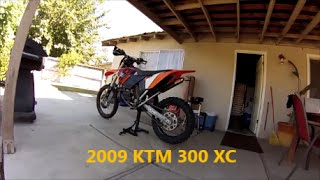 8. NEW TOY 2009 KTM 300 XC REVIEW AND WALK AROUND
