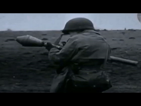 German Panzerfaust Firing Demonstration By US 1st Army Soldier WW2 Footage RPG