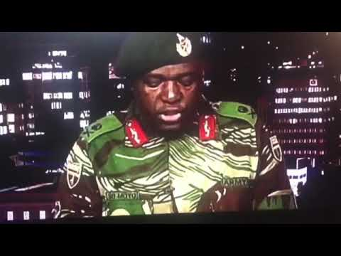 ZIMBABWE : MILITARY COUP 15TH NOVEMBER 2017 (ARMY CHIEF SPEECH IN FULL)