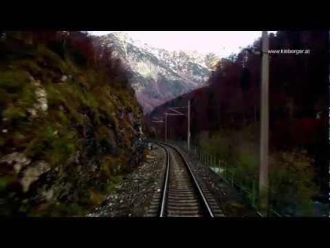 Salzkammergutbahn - anfangs nächtliche Führerstandsmitfahrt von Attnang nach Stainach-Irdning