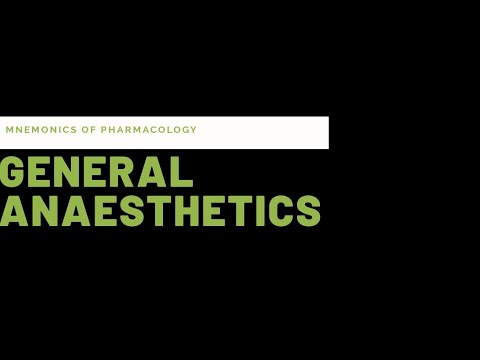 Simple tricks(mnemonics) to learn general anaesthetics