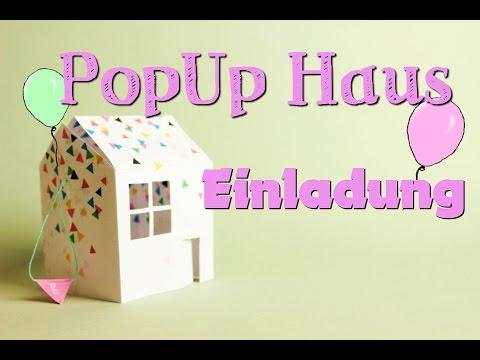 PopUp-Haus Einladungskarte | DIY/Tutorial