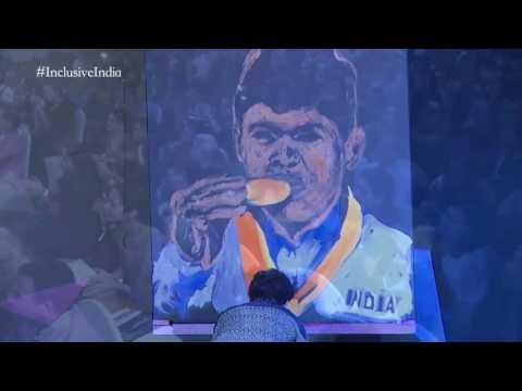 Video Paralympic Gold Medalist Mariappan speed painting by Vilas Nayak | IIS download in MP3, 3GP, MP4, WEBM, AVI, FLV January 2017