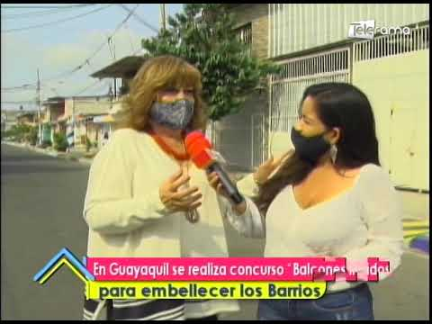 En Guayaquil se realiza concurso Balcones floridos para embellecer los barrios