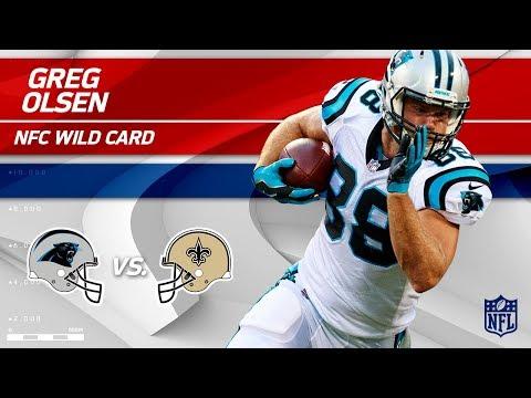 Video: Greg Olsen's 8 Grabs for 107 Yards & 1 TD! | Panthers vs. Saints | Wild Card Player HLs