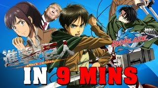 Video Attack on Titan IN 9 MINUTES MP3, 3GP, MP4, WEBM, AVI, FLV Juli 2018