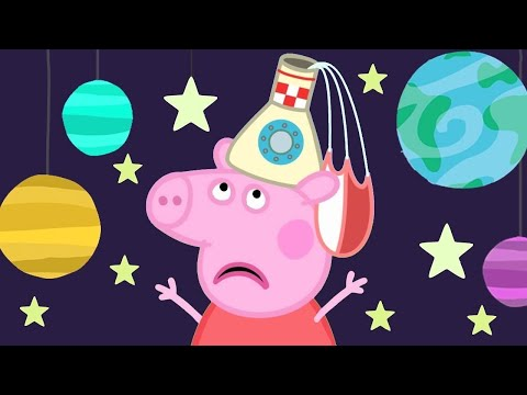 Peppa Pig English Episodes  Peppa Pig's Fun Time At The Space Museum  Peppa Pig Official  4K
