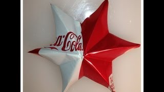 Aluminum Can Ornament Star By The Crafty Ninja - YouTube