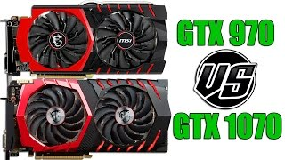 """MSI GTX 970 Gaming 4G vs MSI GTX 1070 Gaming 8G (Both at stock frequencies)I wanted to note that i tested my MSI GTX 970 earlier in may with older GeForce Experience version that consumes more ram. That's why ram usage is so different in my test.PC photos.1. http://i.cubeupload.com/Q6C8zl.jpg2. http://i.cubeupload.com/Rn5hsY.jpg1. 0:40 Grand Theft Auto V2. 2:30 Fallout 43. 4:30 Alien: Isolation4. 6:01 Project Cars5. 7:50 The Witcher 3: Wild Hunt6. 9:48 S.T.A.L.K.E.R.: Clear Sky7. 11:23 Company of Heroes 28. 12:10 Metro 2033 Redux 9. 13:12 Sniper Elite III10. 14:33 Batman: Arkham Knight11. 15:38 Total War: Attila12. 16:42 Tom Clancy's Rainbow Six Siege13. 17:37 Dirt Rally14. 19:06 Crysis 3Recorded with GeForce Experience 60FPS, 50Mbps, 1440p, using H.264Render with Sony Vegas Pro 13.0 (64 bit)OS  Windows 10 Home (64 bit)Drivers version 373.06 WHQLPC specs:Cooler: Be Quiet! Pure RockProcessor: Intel Skylake Core i7-6700k 4Ghz (Stock)Memory: Kingston HyperX Fury DDR4 2133Mhz CL14 2x4GBMotherboard: Gigabyte GA-Z170M-D3H Rev 1.0SSD: Samsung EVO 850 500GBHard Drive: Seagate SSHD ST1000DX001 1TB 7200rpmPower Supply: Be Quiet! STRAIGHT POWER 10  600W CMDisplay: Dell UltraSharp U2515H 25"""" 1440p IPSПартнёрка YouTube, с которой я сотрудничаю: http://join.air.io/vortezgames"""