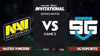 Natus Vincere против SG esports, Вторая карта, Группа Б, StarLadder Imbatv Invitational S5 LAN-Final