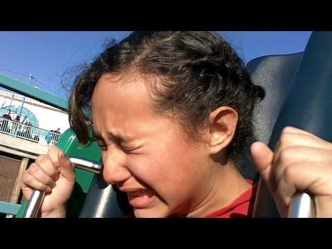 Epic Roller Coaster Fail @ Disney California Adventure Terrified girl MUST SEE! Funny!!!
