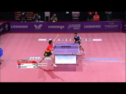 Yan - Review all the highlights from the Kalinikos Kreanga vs Yan An Men's singles round 3 match at the 2013 World Table Tennis Championships in Paris, France. ©TM...