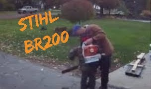 3. Stihl BR200 Backpack Blower - my son's impressions