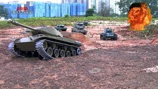 8 Tanks On The Move! German Leopard 2A6 Pershing Snow Leopard US Sherman Walker Bulldog Russia KV-1