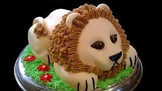 How to make a 3D Lion cake