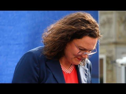 SPD: Krise - Nahles will vorzeitig über Fraktionsvorsit ...
