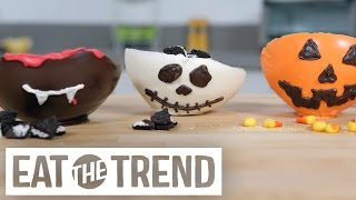 Adorable Edible Halloween Inspired Chocolate Bowls | Eat The Trend by POPSUGAR Food