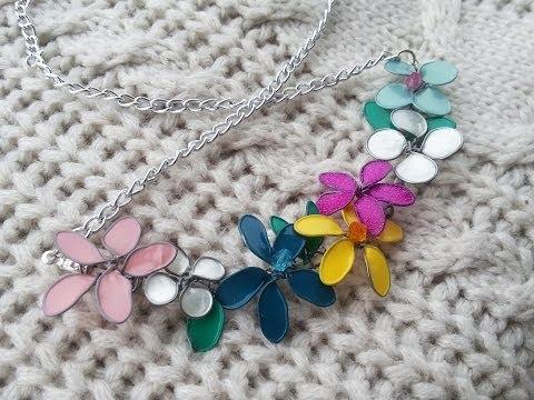 collana con fiori di smalto per unghie (fai da te)