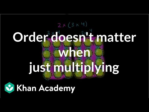 Properties Of Multiplication Video Khan Academy