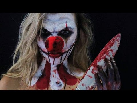 MAQUILLAGE D'HALLOWEEN: CLOWN  PSYCHOPATHE