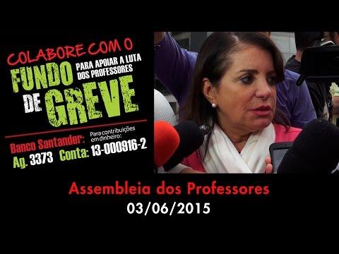 Assembleia dos Professores - 03/06/2015