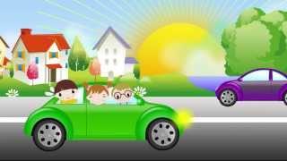 Машина идет гудит. Песенка для самых маленьких. The car song for kids.