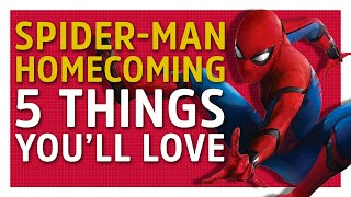 Spider-Man: Homecoming is now in cinemas, so here's Dave and Tam with 5 things you'll love about the latest entry into the Marvel Cinematic Universe.Subscribe to GameSpot Universe! http://youtube.com/GameSpotUniverse?s...Follow Us - http://twitter.com/GSUniverseLike Us - http://facebook.com/GameSpotUniversehttp://www.gamespot.com