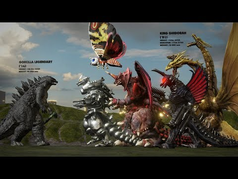 EVOLUTION Of GODZILLA MONSTERS: Size Comparison