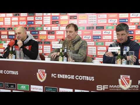 Video: Pressekonferenz - FC Energie Cottbus gegen 1. FC Magdeburg 2:0 (2:0)