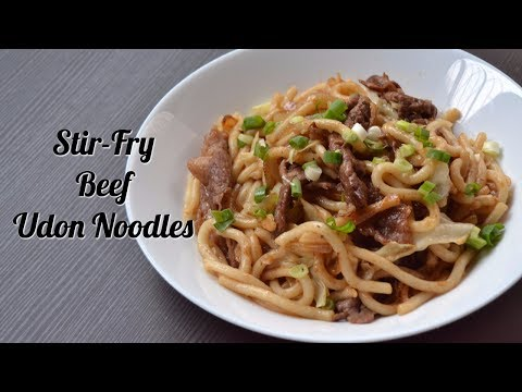 EASY JAPANESE STIR-FRY BEEF UDON NOODLES
