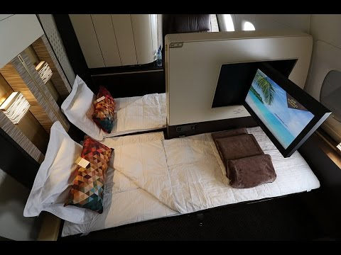 Etihad A380 First Class Apartment Full Video in-flight experience