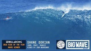 Shane Dorian (Kona, Hawaii, USA) does it again, capturing another Billabong Ride of the Year Award victory for this wave at Jaws...