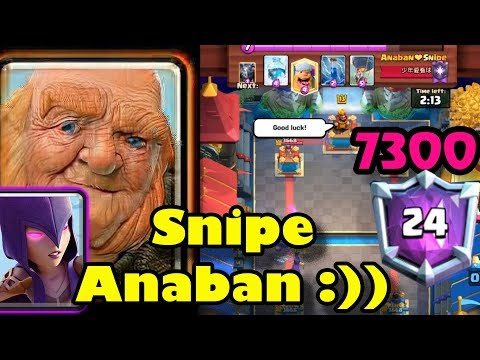 🔥Sniper Anaban 👈Giant Witch Destroyed Ladder 7300 - Clash Royale