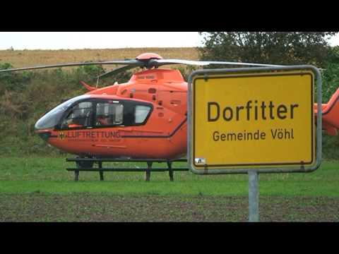 Dorfitter: Regenpause für Rettungshubschrauber