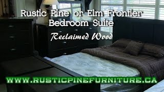 Mennonite Rustic Pine Frontier Bedroom Suite