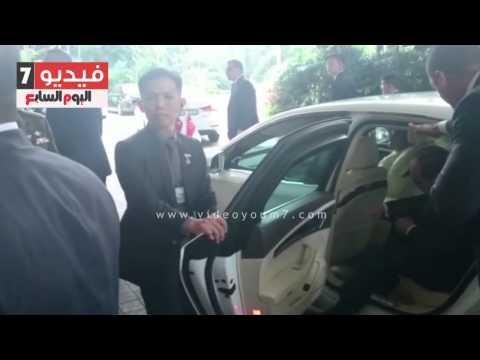 بالفيديو .. السيسى يصل سنغافورة فى مستهل جولته الآسيوية