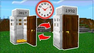 COMMAND BLOCK TIME MACHINE in Minecraft PE // Minecraft Pocket Edition TIME MACHINE