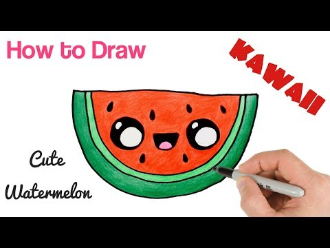 Video How to Draw a Watermelon cartoon and cute super easy. download in MP3, 3GP, MP4, WEBM, AVI, FLV January 2017